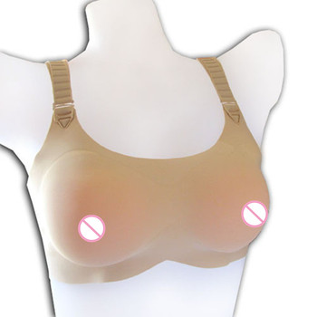 Hot Selling Silicone False Breast Form Push Up Bra for Man Crossdresser Seamless 1 Piece Style for Fake Boobs