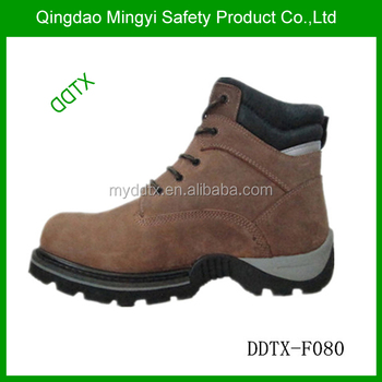 High standard mining industrial safety boots steel toe
