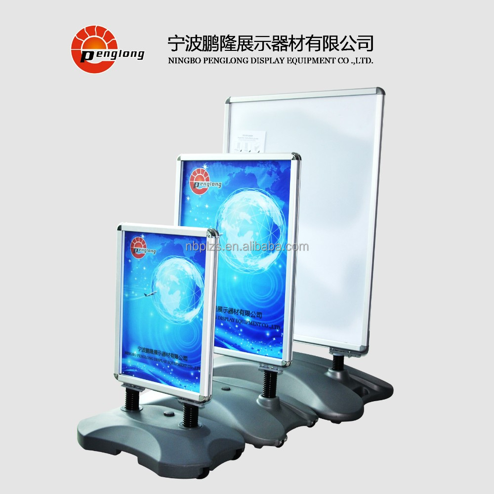 2017 hot aluminum frame standing,advertising poster display stands,forcourt sign frame 70x100