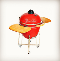 Versatile Vertical Shell Ceramic Oval Kamado BBQ Grill