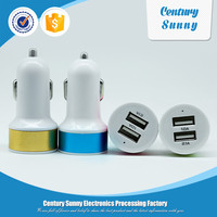 Good price 2 usb car charger,mobile phone dual charger