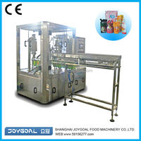 5 heads standup juice bag filling machine/standing bag with spout packing machine/stand up pouch juice filling machine