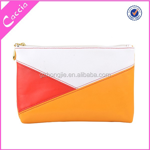 faux leather plain promotional cosmetic makeup bags
