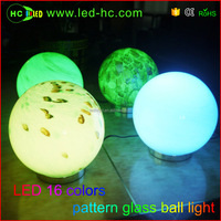 Home indoor led mood light glass lamp remote control low voltage 16 colors changing glass ball led night light