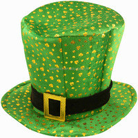 Men's carnival party green top hat for adult QHAT-6066