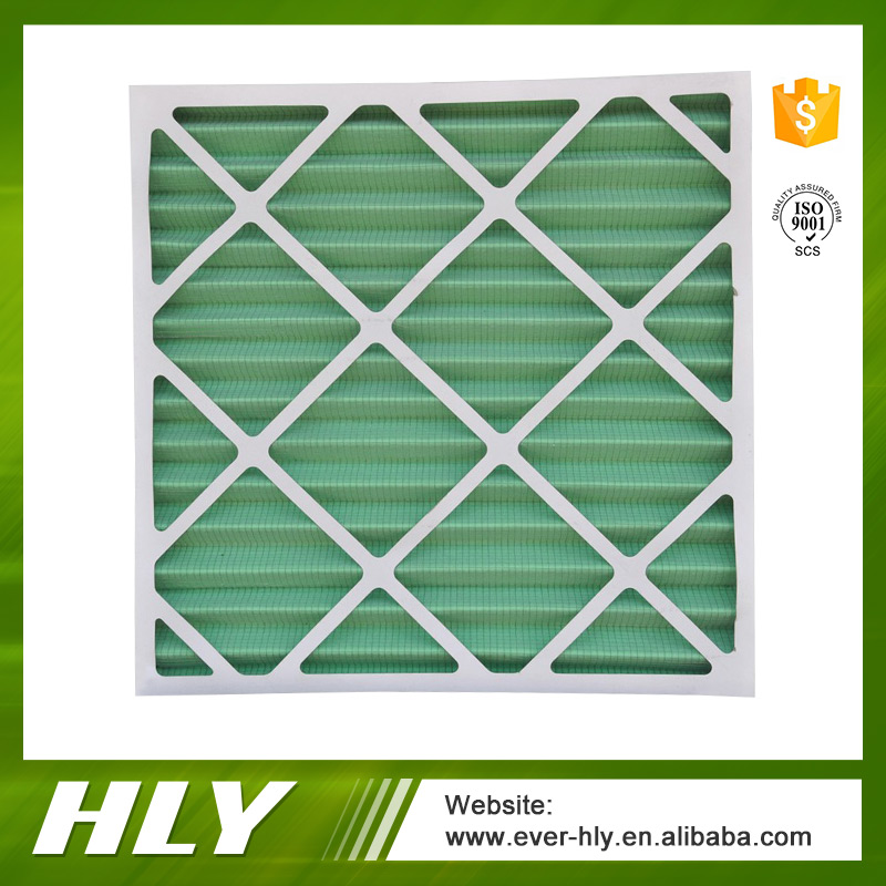 Antibacterial pleated filter for air conditioner