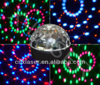 New coming Six color LED crystal magical ball light