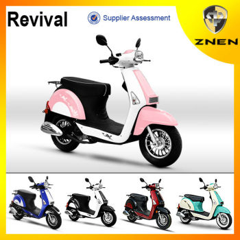 ZNEN MOTOR-- Revival model 2015 hot sell gas scooter 50cc nice patent design moped scooter for European market