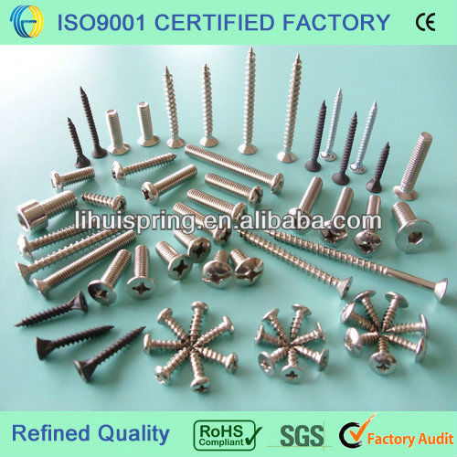 Various kinds of standard screws (DIN, GB, ANSI, BSW, JIS, GOST,etc.) and non-standard screws