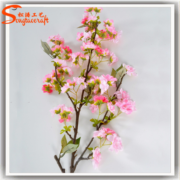 China wholesale artificial cherry blossom branch fake cherry blossom tree branch