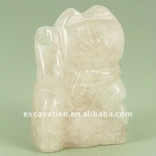Carving semi precious stone Animal, Cat