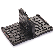 Tablet PC Bluetooth Keyboard Aluminum in Triple 3 Folds Folding Design Ergonomic Folding Keyboard TP-N308