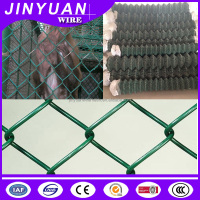 High standard diamond hole galvanized iron wire mesh, 60mm*60mm green pvc coated chain link fence