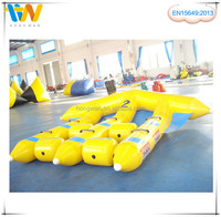 Inflatable banana boat, inflatable flying fish water game for sale