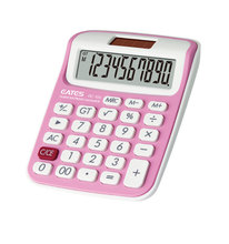 Promotion Gift Best Handheld Calculator 10 Digits Solar Power & Button Cell Power Mini Pocket Calculator