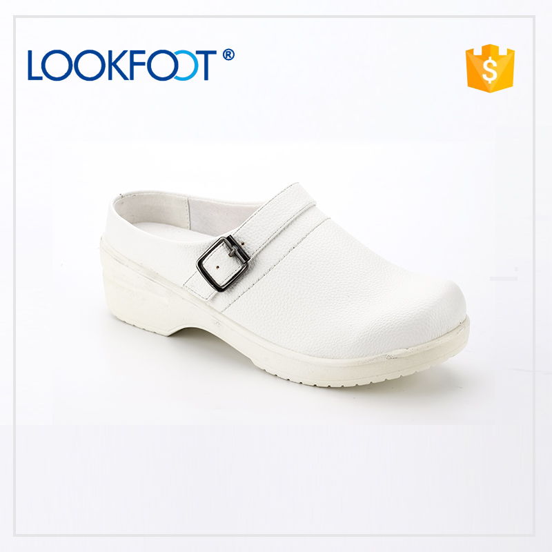 latest designs breathe freely women white dress sole safety shoes genuine leather easy to walk