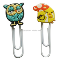 Customized rubber material 3D shpaed cartoon bookmark