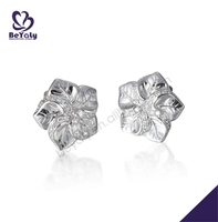 Vivid exquisite carved luxury cz set fashion silver accessories to make earrings