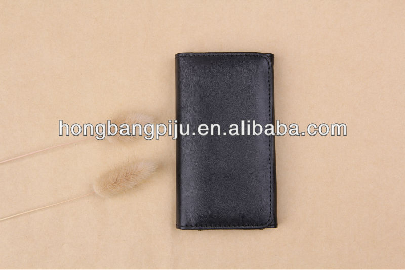 fashion leather balck phone case for iphone4/4s