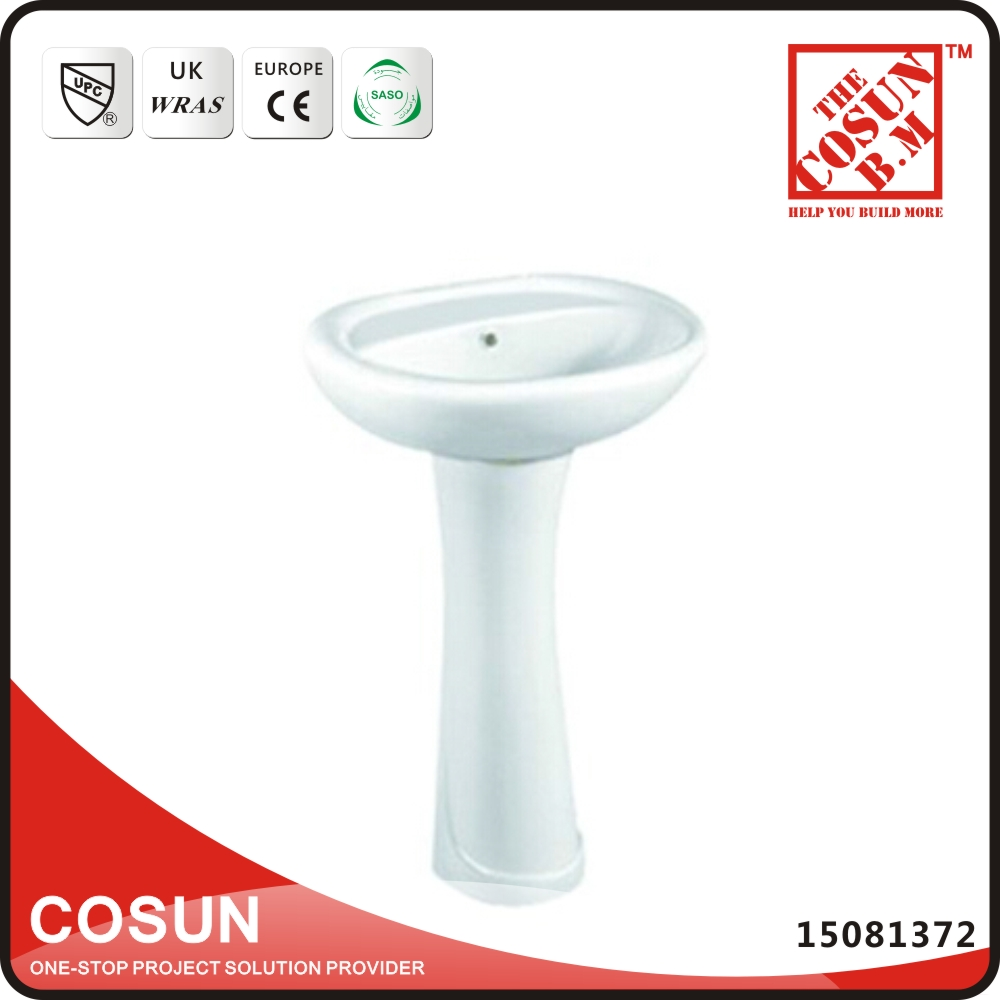 Cheap porcelain small pedestal basin bathroom sink buy for Cheap toilet and sink set