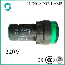 IP65 IP67 AD16-22DS green light 220V led signal indicator light