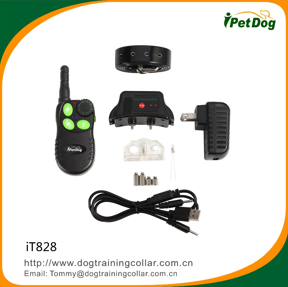 Indoor and Outdoor Used 550M Remote controlled Collar Electric Anti Bark Shock Collar with Vibration/Beep