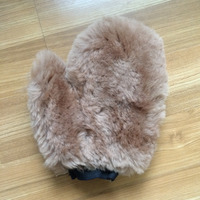 Super Thick Lambswool Wool Fur Wash Mittens For Autp Car