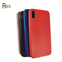2018 New Non-Slip Ultra Thin Soft Silicone Litchi Leather Texture TPU Cell Phone Protective Back Shell Cover Case For iPhone 8