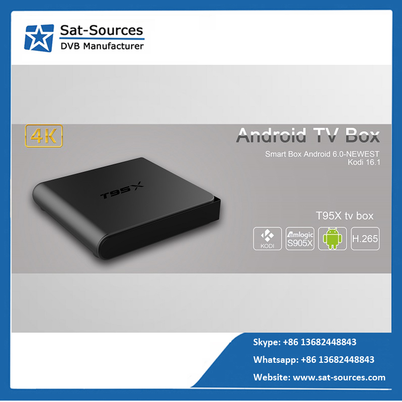 Hot selling T95X TV Box 1GB DDR3+8GBROM Android 6.0 NEWEST with 2.4G wifi