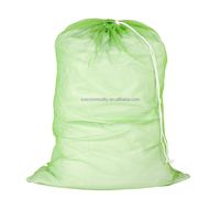 nylon mesh laundry bag with drawstring