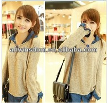 2013 SPRING NEW FASHION STAND COLLAR SWEATER DESIGNS FOR LADIES