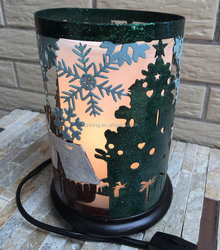 metal tree and snow lamp shades candle holders for home decoration