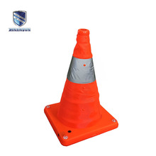 plastic retractable led light traffic safety cones for thread