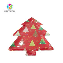 Melamine christmas tree shaped fruit plates and tray