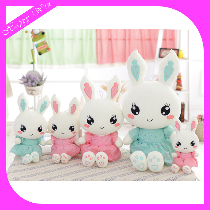 Customized size plush mini soft plush cute stuffed lovely rabbit fancy quality toy on sale