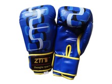 blue artificial leather adults fitness equipment boxing gloves for sale