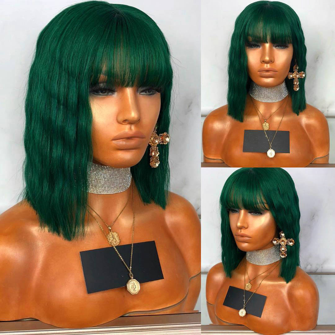 Newest Style Straight Bob Short Ombre Highlight Brazilian Virgin Human Hair Full Lace Wigs Bleach Knots