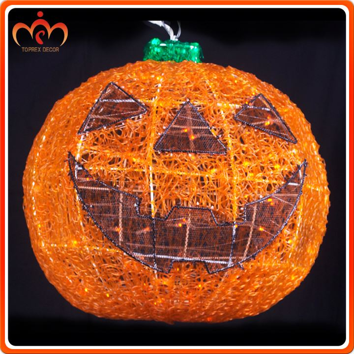 Handcrafted mini led decor for halloween pumpkins
