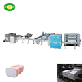 Full automatic facial tissue soft packing and carton box packing production line