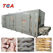 CE Qualified SUS304 Belt IQF Tunnel Freezer for frozen food