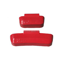 Car used Pb clip on wheel balance weight color coated