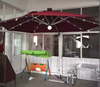2015 most fashion double layer 3m*3m automatic solar umbrella with led lights, sensor and remote control