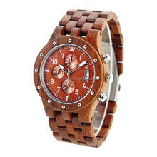 2017 hot sale luxury watches red sandalwood & OEM wood watch bulk buy from china