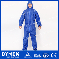Protective Microporous Type 5 Spunbund Taped Coveralls