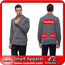 Good price designs of woolen sweaters with battery electric heating system battery heated clothing warm OUBOHK