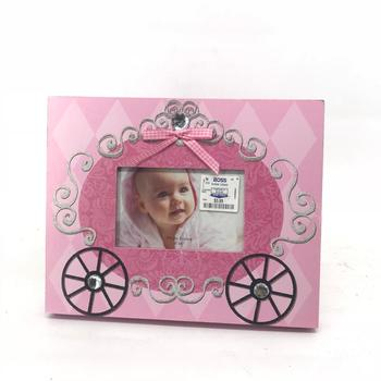 2018 new arrival Custom Pink Princess baby 12 month photo frame