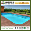 Outside swimming pool!!Hot selling plastic wood plank flooring cheap price wpc board high quality wpc decking