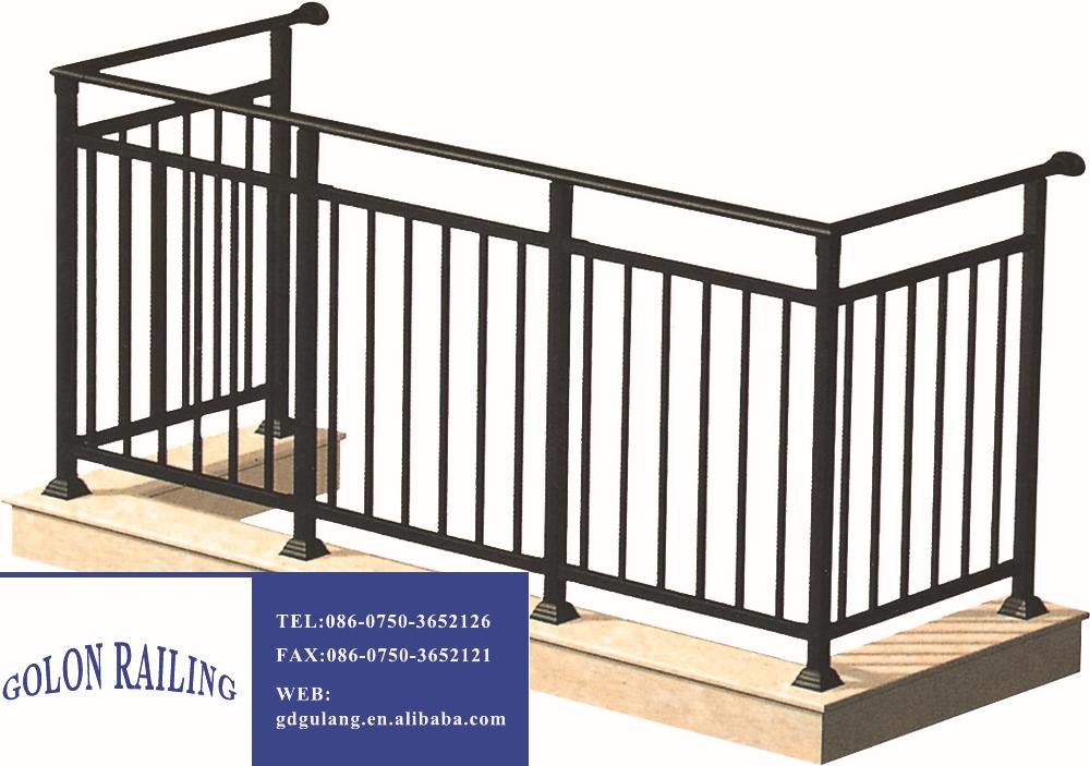 Современный дизайн ms квадратная труба перила балкона - buy .