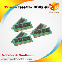 Taiwan pcb ETT ddr3 ram 4gb used for 1.35v low Votage laptop