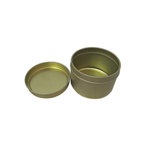 Wholesale Seamless Round Candle Gold Tin Containers 6oz